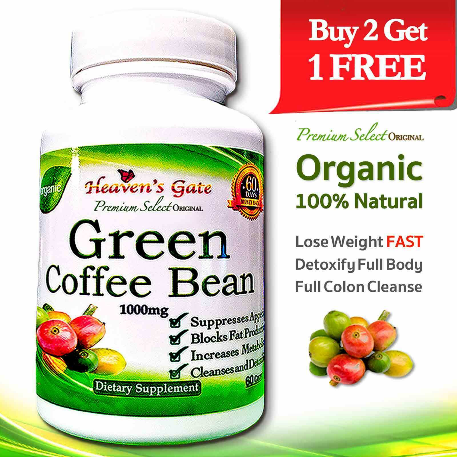 1000mg Green Coffee Bean Diet Extract Slimming Pills Weight Loss