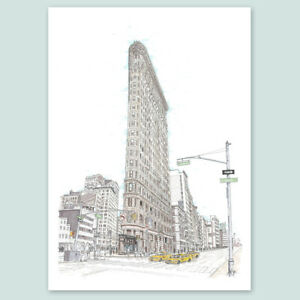 Size A2 Poster Print Photo Art Gift #3278 A2Flat Iron Building New york 5th