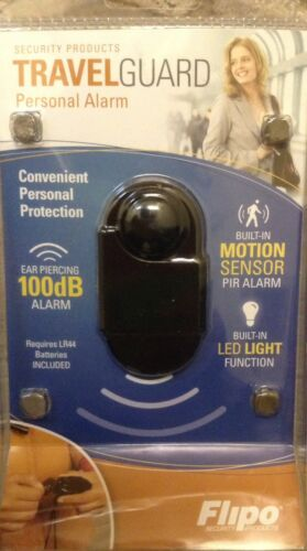 Wireless Mini TRAVEL Personal Security Alarm PIR Motion Detector Sensor LED NEW