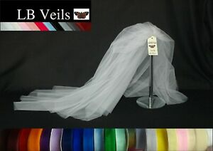 Wedding-Veil-White-2-Tier-with-Any-Colour-Ribbon-Edge-Organza-LBV184-LB-Veils