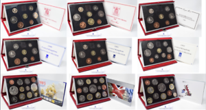1985 - 2007 Red Deluxe Proof Year Coin Sets COA Royal Mint Select Your Dates