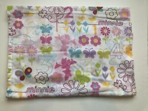 Minnie Mouse Flat Sheet Toddler Bed Numbers Butterflies ...