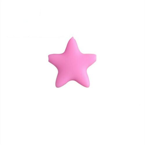 DIY 1X Safety star shape beads Molar Stick Silicone Teethers DIY Baby Molar toy