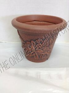 Frontgate Grandinroad Plastic Flower Pot Holder Planter With Stake