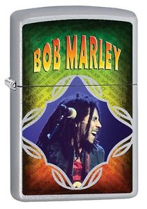 "ZIPPO ""BOB MARLEY"" SATIN FINISH COLOR LIGHTER ** NEW IN BOX ** MUSIC"