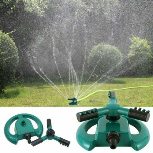 360° Rasensprenger Gartensprenger Sprinkler Regner Garten Bewässerung 3-Arm DHL