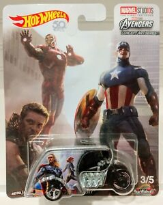 Hot Wheels 2018 CPT America 3-D Livery Marvel Concept Art Series 3//5