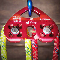 25kn Zip Line Cable Trolley Dual Pulley Double Sheaves Climbing Rescue Arborist
