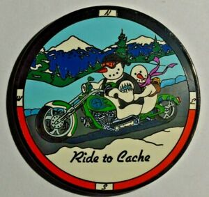Geocoin-Ride-to-Cache-Live-to-Cache-Snowmen-on-a-Motorcycle