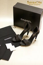NEW IN BOX AUTHENTIC CHANEL CHAUSSURES OUVE BLACK SIZE 8 SHOES G28127X31253