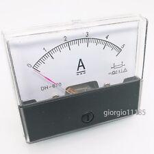 Us Stock Analog Panel Amp Current Ammeter Meter Gauge Dh 670 0 5a Dc