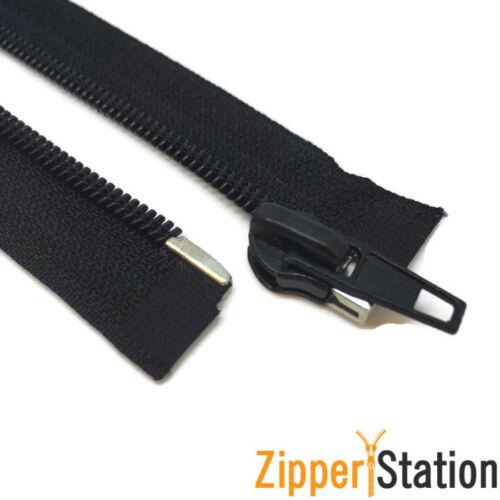 21 different zipper lengths BLACK Nylon Autolock Open End #5 Zip