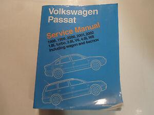 1998 2000 2002 vw passat 1 8l 2 8l v6 4 0l w8 service repair shop rh ebay ie passat w8 service manual Passat W8 Engine