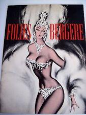 """Stunning 1963 """"Folies Berrgere"""" Souvenir Program w/ Josephine Baker *"""