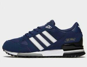 Da-Uomo-Adidas-Originals-ZX-750-Scarpe-da-ginnastica-Navy-Blu-Scarpe-Di-Tutte-Le-Taglie