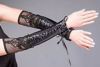 Queen Of Darkness Macbeth Corset Lace Arm Warmers Gothic Victorian