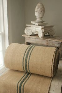 Image Is Loading Vintage STAIR RUNNER HEMP Fabric Material HOMESPUN GREEN