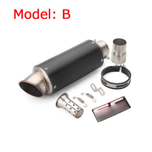 51-61mm Motorcycle Exhaust Muffler Vent Pipe Exhaust System Connecting Tail Tube