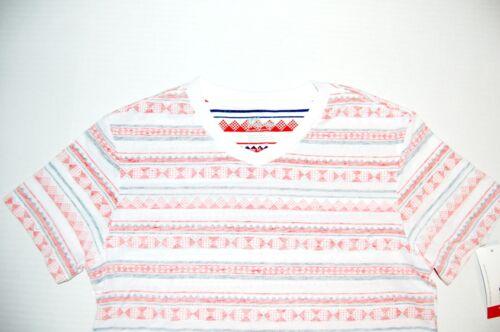 Boys Shirt Epic Threads Short Sleeves V Neck Geometric Print Orange Sz M L NWT