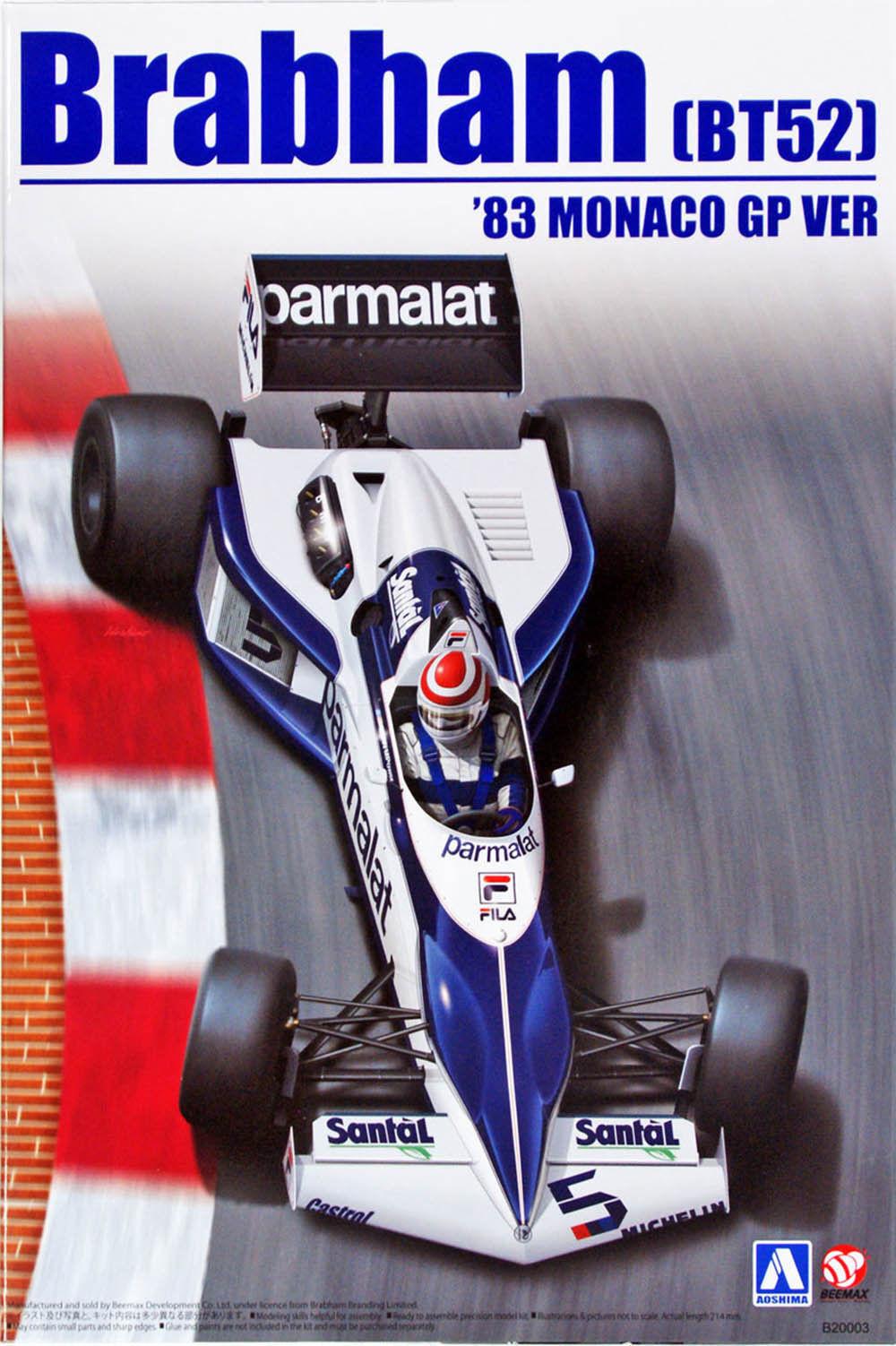 KIT KIT KIT AOSHIMA - BEEMAX  1 20 AUTO F1 BRABHAM BT52 '83 MONACO GP VER B20003 NO.14 76c7b9