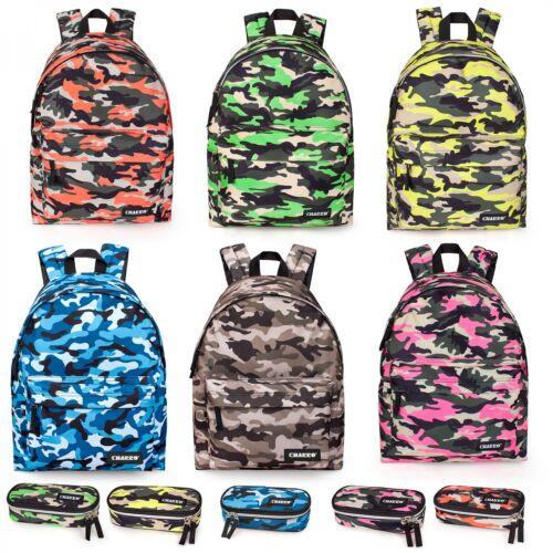 El Charro Camo PREMIUM Backpack Rucksack Ladies Boys School Work Bag Multicolour