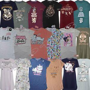 Image is loading Ladies-DISNEY-Pyjamas-Nightshirt-Womens-Nightie-Girls- Nightdress- bc77d5646