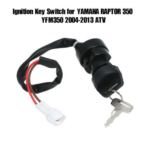 Black Ignition Key Switch for YAMAHA BANSHEE 350 YFM350 2002-2006 ATV 1pcs L1K0