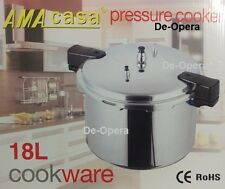 18 LITRE PRESSURE COOKER ALUMINIUM 18L KITCHEN CATERING HOME BRAND NEW