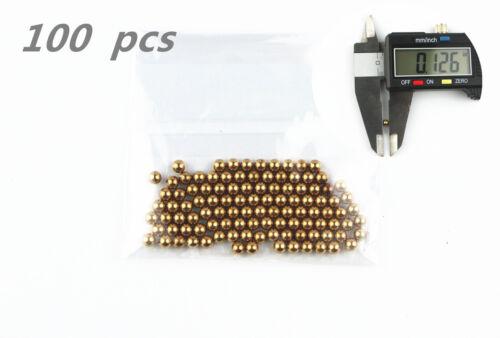 "LIEOMO 1//8/""  Precision Solid brass Bearing Balls 100Pcs"