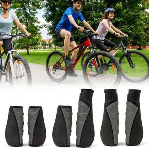 Ergonomic Rubber MTB Mountain Bike Bicycle Handlebar Grips Cycling Lock-On Ends