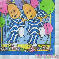 Bananas In Pajamas Lunch Napkins (16) Vintage Birthday Party Supplies Dinner