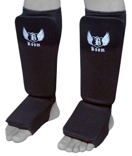 Boom Pro Shin Collo Del Piede Protezioni elasticizzati MMA Boxing Arti Marziali PADS