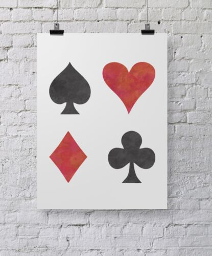 Heart Diamond Spade Club Stencil CraftStar Large Playing Card Symbol Stencil