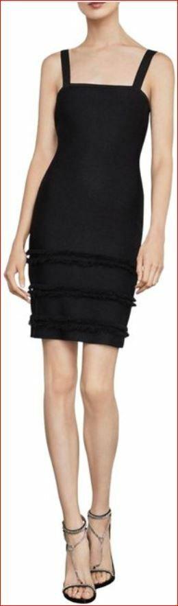 Neuf Bcbgmaxazria Femme Robe Cnf65p81-001 102018 Noir Taille M