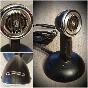 Antique-Microphone-T-32-AF-30-635-2273-On-Base-Vintage-Style-Western