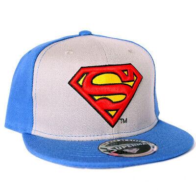 Superman Classic Logo Blue Cap Man of Steel Hero Baseball Kappe Mütze Snapback
