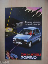 Daihatsu Domino Prospekt / Brochure / Depliant, Belgium (F), 11.1985