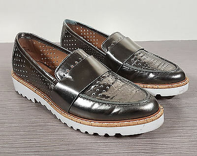 6ce6b801cd0 Halogen  Emily  Loafer Pewter Leather Womens Size 5 M