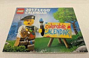 Lego-2017-Promotional-Colorable-Wall-Calendar-NEW-Sealed-amp-Ready-to-Ship