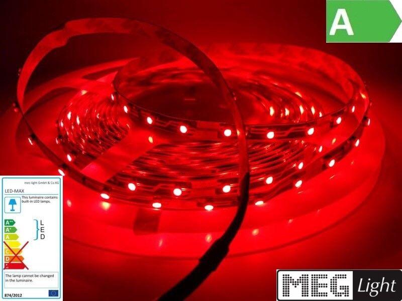 (  m) 0,50m-5m roter LED Streifen Stripe 120xSMDs m Rot - Outdoor IP66