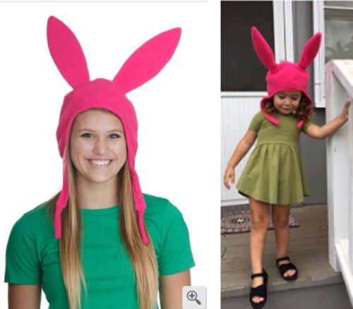 Family Matching Hat Louise Pink Ears Hat Bob's Burgers Cosplay Costume Halloween by Unbranded