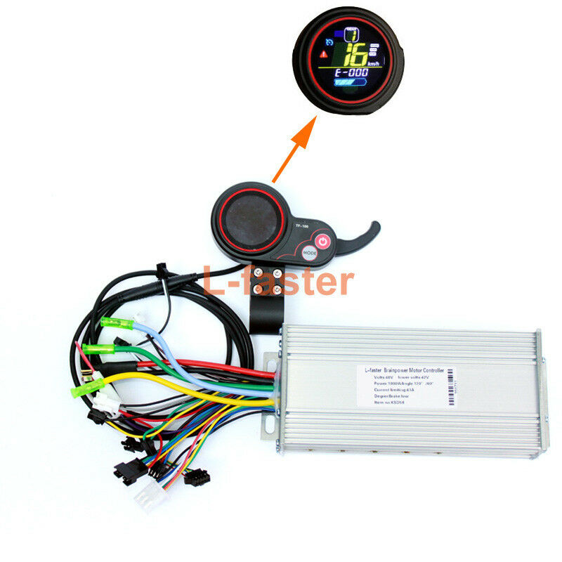 450W1000W Electric Brushless Motor Controller Thumb Throssotle With LCD Screen