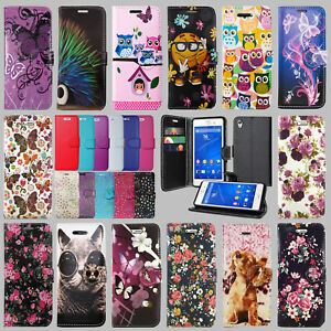 the latest 9ed10 e396d Details about FOR SONY XPERIA XZ - F8331 / F8332 PU LEATHER WALLET BOOK  CARD HOLDER CASE COVER