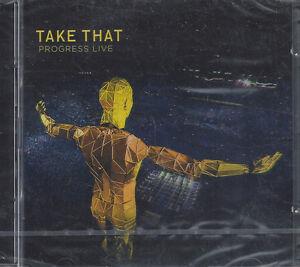 2-CD-Compact-disc-Box-TAKE-THAT-PROGRESS-LIVE-nuovo-sigillato