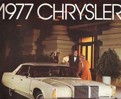 1977 Chrysler Large Sales Catalog-new from dealer