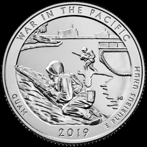 "2019 S /""War in the Pacific/"" Guam National Park Quarter US Mint /""BU/"" ATB"