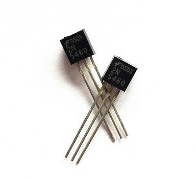 5 PCS 2N5460 JFET P-CH 40V 350MW TO92 NEW CK