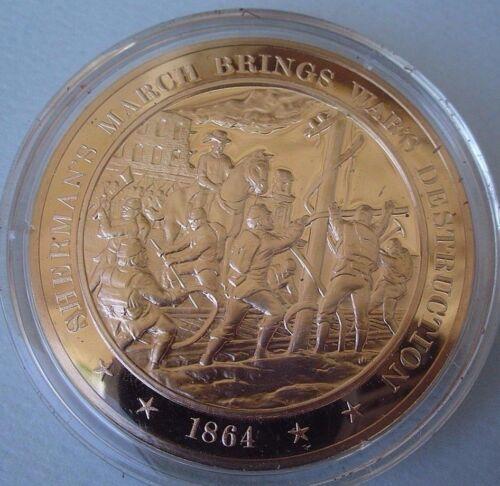 Solid Bronze Medal 1864 Sherman/'s March Brings Destruction