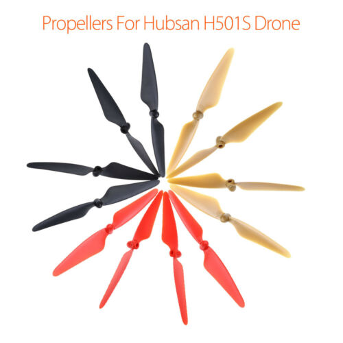 12Pcs Blade Propeller Props CW CCW Self-Locking for Hubsan H501S X4 Drone Parts