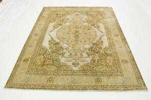Orient-Teppich-Vintage-330x240-beige-sand-braun-Used-Look-handgeknuepft-edel-4137
